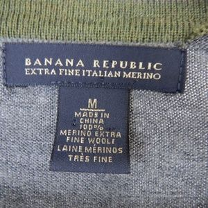 Banana Republic Sweaters - Banana Republic Men's Light Argyle Sweater Merino